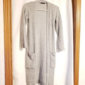 Boohoo Long Gray cardigan with pockets